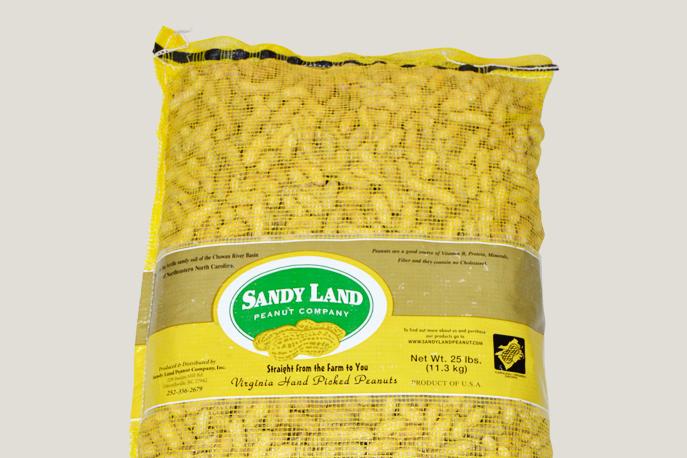 Raw Virginia Jumbo In-Shell Peanuts 25lb bag